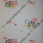 R235E1   17 ROLLS KIDS WALLPAPER FARM ANIMALS. £20 PER ROLL