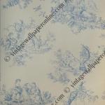 TOILE DE JOUEY (BLUE AND CREAM) R142F 36 ROLLS  CLASSICAL TOILE SCENE. TYPICALLY FRENCH WALLPAPER BY INALTERA. MATT FINISH. £20.00 PER ROLL.