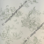 QUANTITY, 120 ROLLS. CLASSICAL TOILE SCENE. TYPICALLY FRENCH WALLPAPER BY INALTERA. MATT FINISH. PRICE, £20.00 PER ROLL.